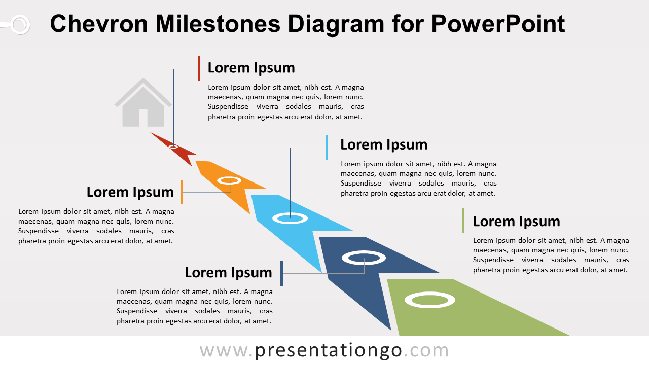 Free Chevron Milestones PowerPoint Diagram