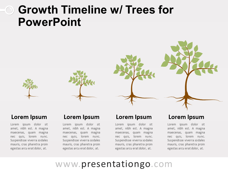 view larger image free growth timeline with trees for powerpoint