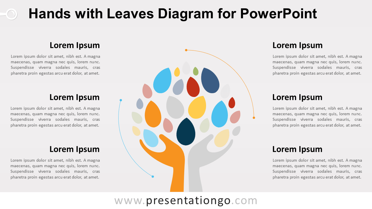 Free Hands with Leaves Graphics for PowerPoint