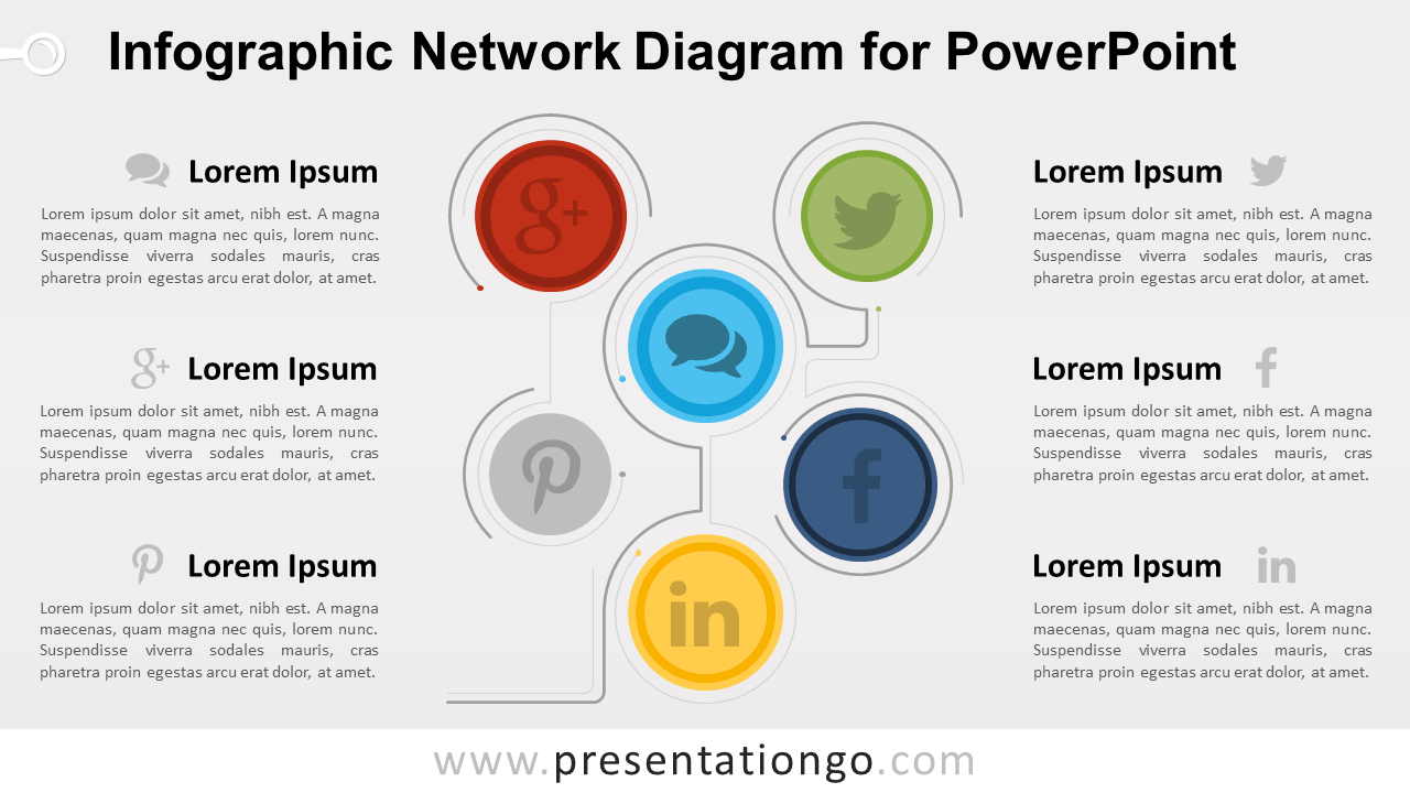 Free Infographic Network PowerPoint Diagram