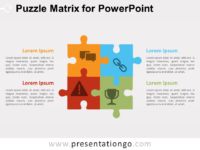 Free Puzzle Matrix Diagram for PowerPoint