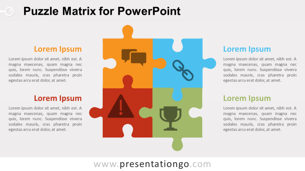 Free Puzzle Matrix for PowerPoint