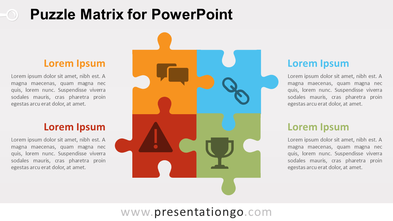 Puzzle Matrix Diagram for PowerPoint - PresentationGO com