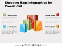 Free Shopping Bags Infographics for PowerPoint