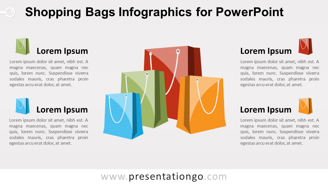 Free Shopping Bags for PowerPoint