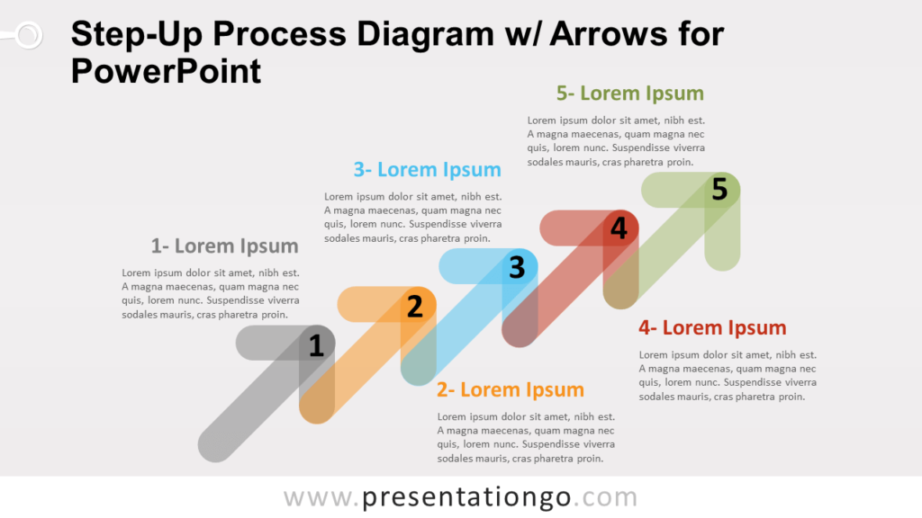 Free Step-Up Process Diagram for PowerPoint