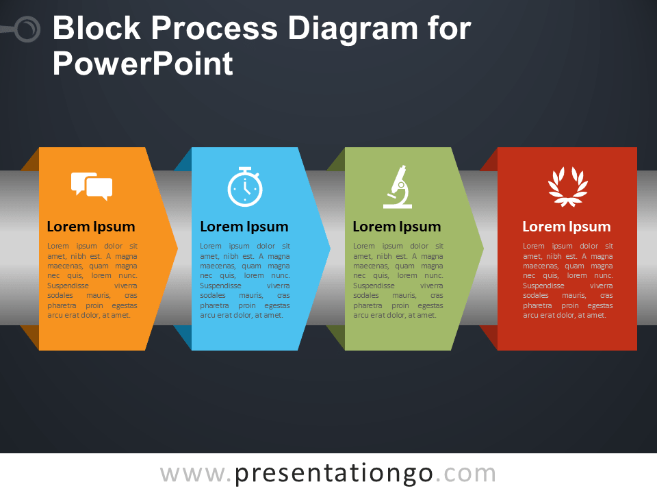 Block Process Diagram for PowerPoint - PresentationGO.comPresentationGO