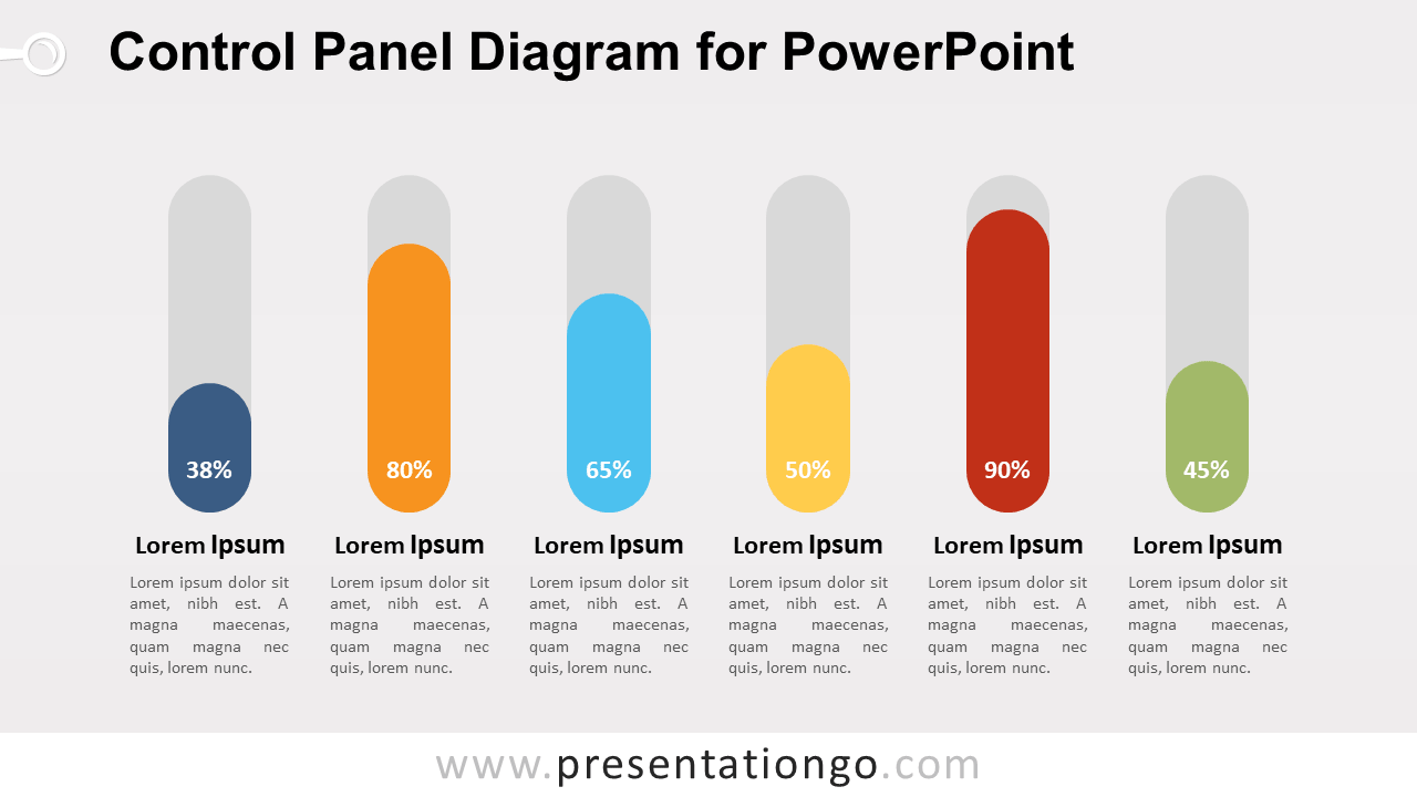 Free Control Panel Infographic for PowerPoint