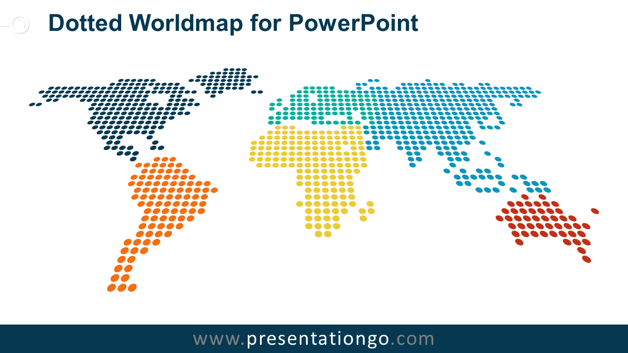 Free Dotted World Map for PowerPoint