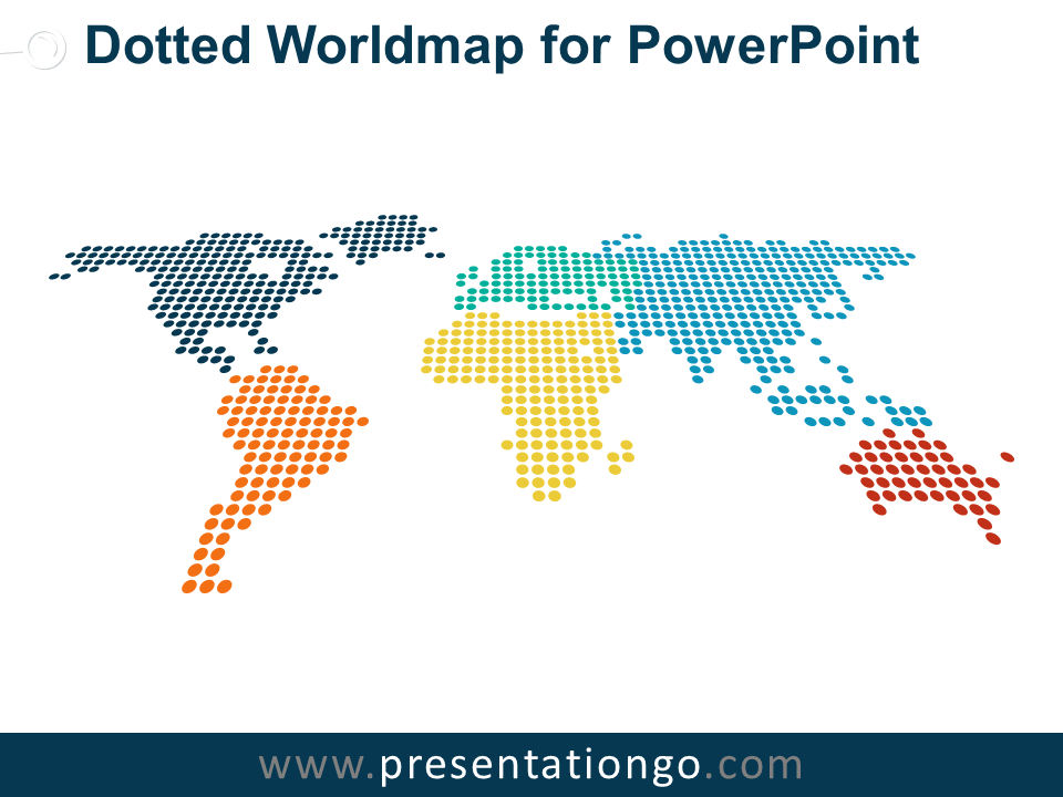 Free Dotted Worldmap for PowerPoint