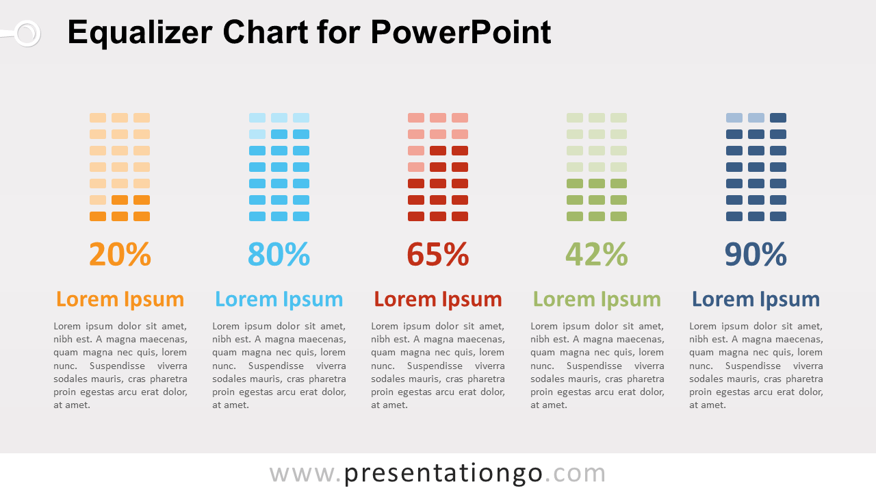 Free Equalizer Chart Diagram for PowerPoint