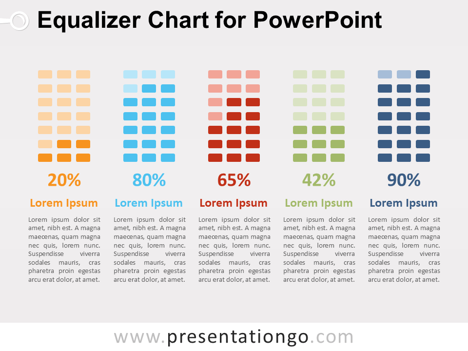 Equalizer Chart for PowerPoint - PresentationGO com