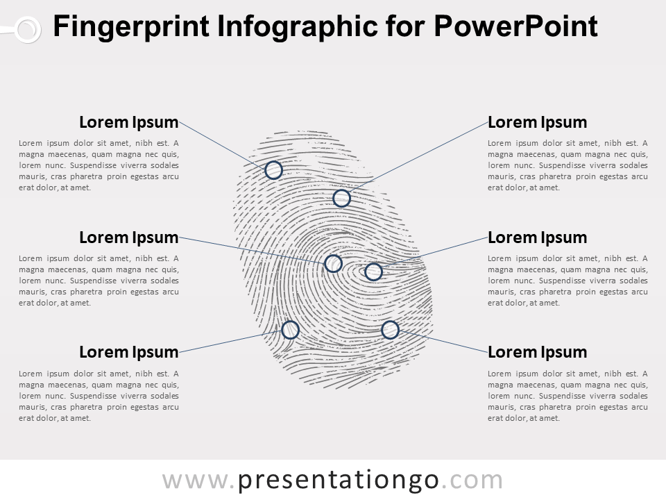 Fingerprint Infographic For Powerpoint
