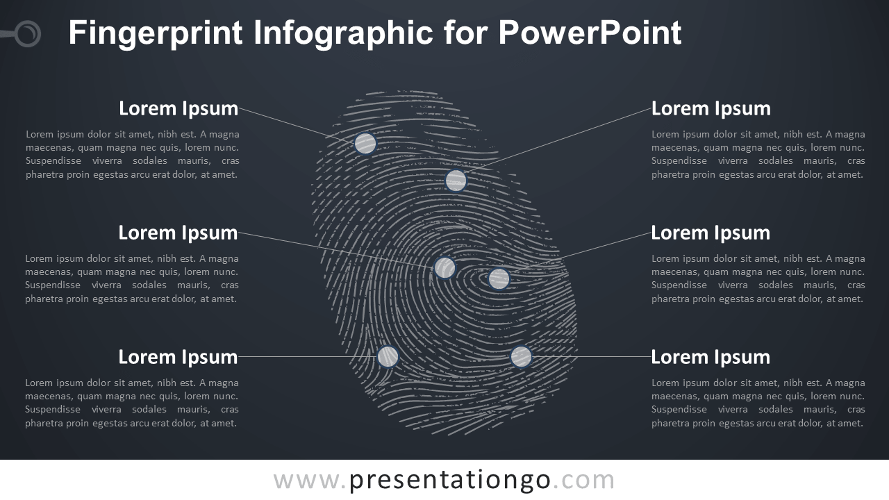 Free Fingerprint for PowerPoint - Dark Background