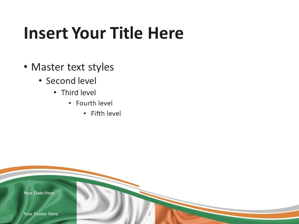 Ireland Flag PowerPoint Template