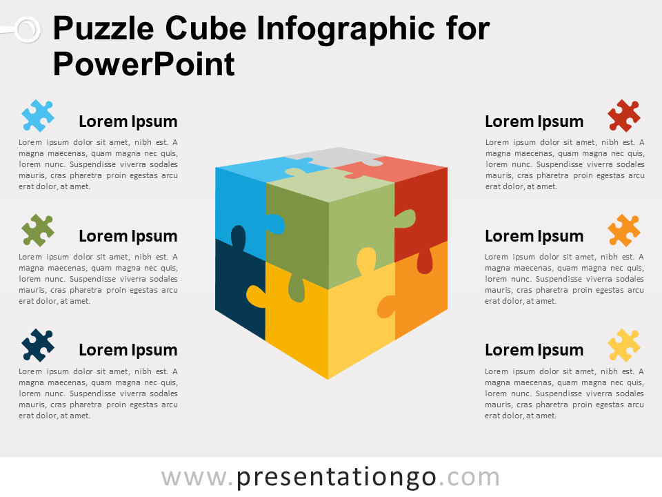 puzzle cube infographic for powerpoint presentationgo com
