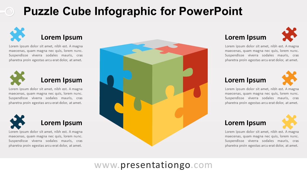 Free Puzzle Cube for PowerPoint