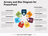 Free Arrows and Star Diagram for PowerPoint