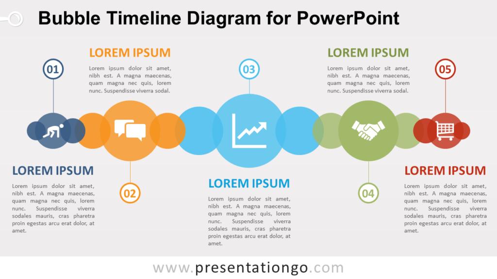 Free Bubble Timeline PowerPoint Diagram