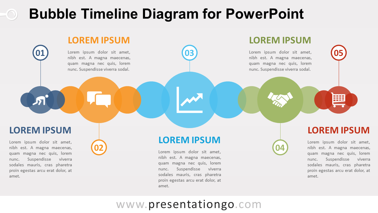 Bubble timeline diagram for powerpoint presentationgo free bubble timeline powerpoint diagram ccuart Choice Image
