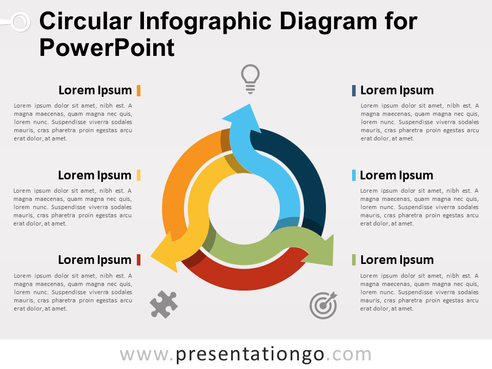 Circular infographic diagram for powerpoint presentationgo view larger image free circular infographic diagram for powerpoint ccuart Images