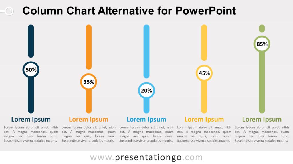 Free Column Chart Alternative PowerPoint Infographics