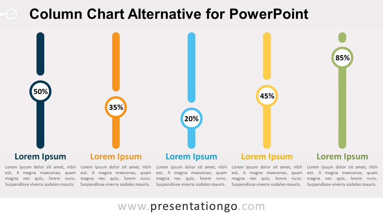Free Column Chart Alternative PowerPoint Infographics