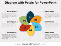 Free Diagram with 6 Petals for PowerPoint