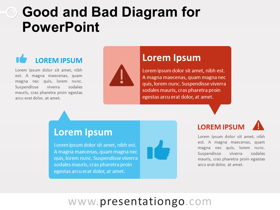 Free Good and Bad Diagram for PowerPoint