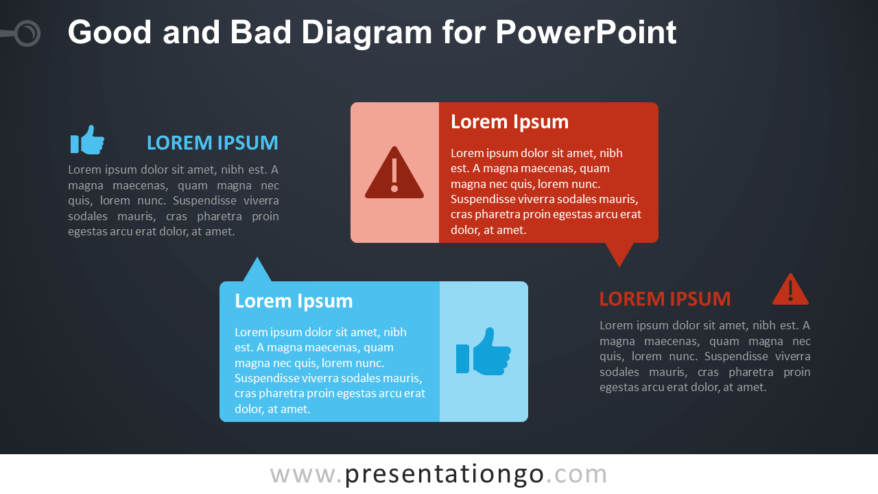 Good and Bad PowerPoint Comparison - Dark Background