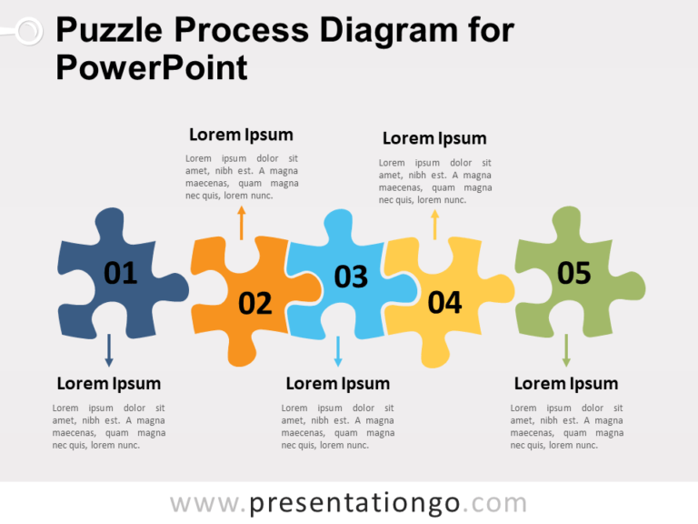 Free Puzzle Process Diagram for PowerPoint