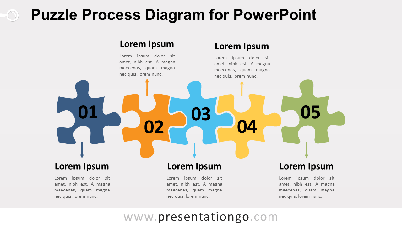 Free Puzzle Process PowerPoint Diagram