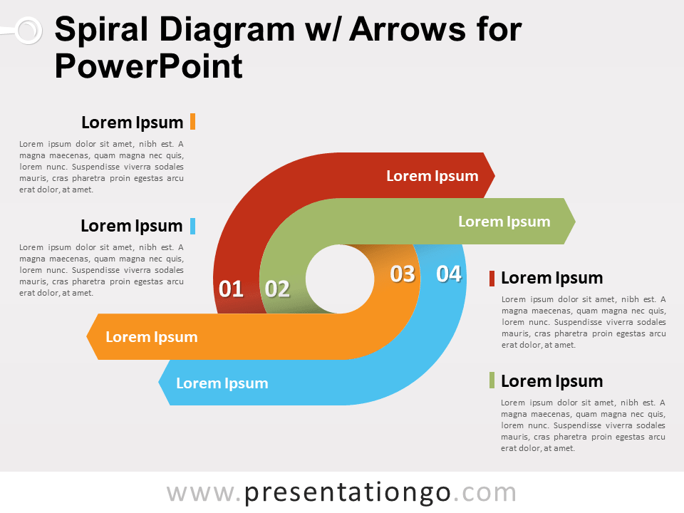 spiral diagram with arrows for powerpoint presentationgocom