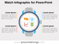 Free Watch Infographic for PowerPoint