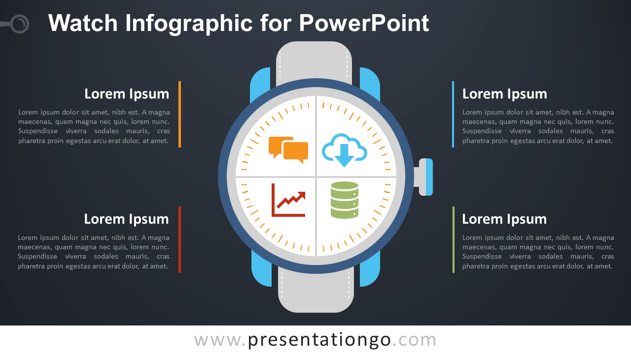 Free Watch Matrix for PowerPoint - Dark Background
