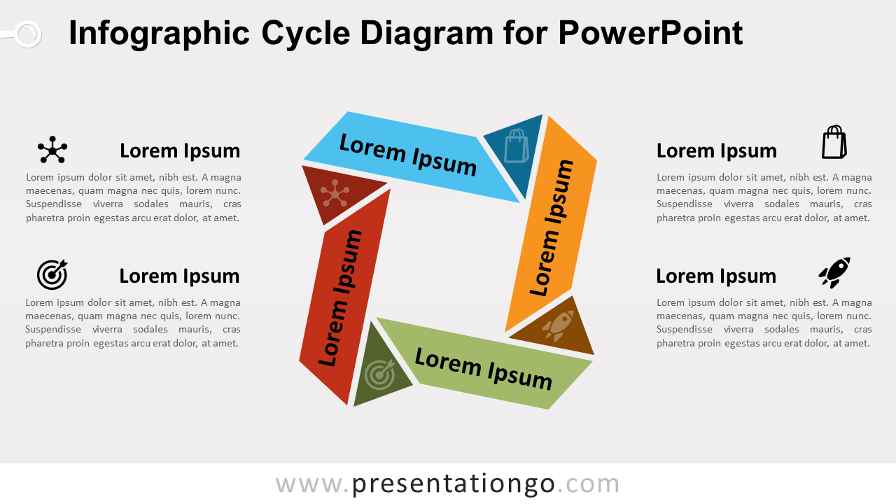 Free Infographic Cycle PowerPoint Diagram