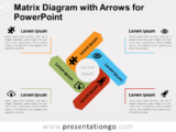 Free Matrix Diagram with Arrows for PowerPoint