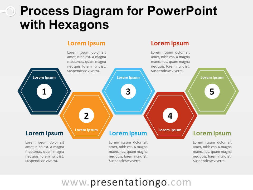 Free Yet another Process Diagram for PowerPoint with Hexagons