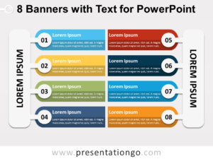 Free 8 Banners with Text for PowerPoint