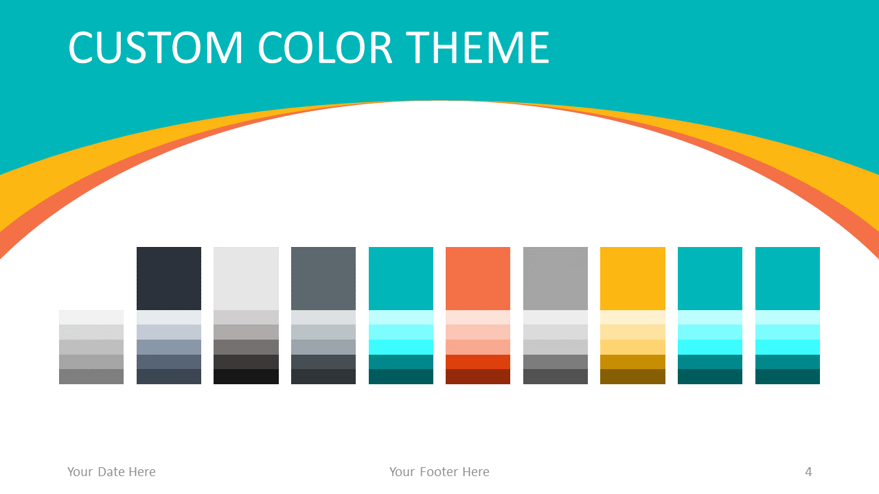 Free Abstract Business PowerPoint Template - Colors