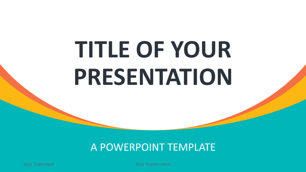 Free Abstract Business PowerPoint Template - Cover