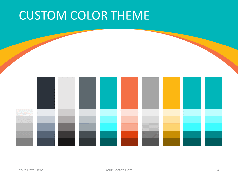 Free Abstract Business Template for PowerPoint - Colors