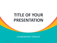 Free Abstract Business Template for PowerPoint - Cover