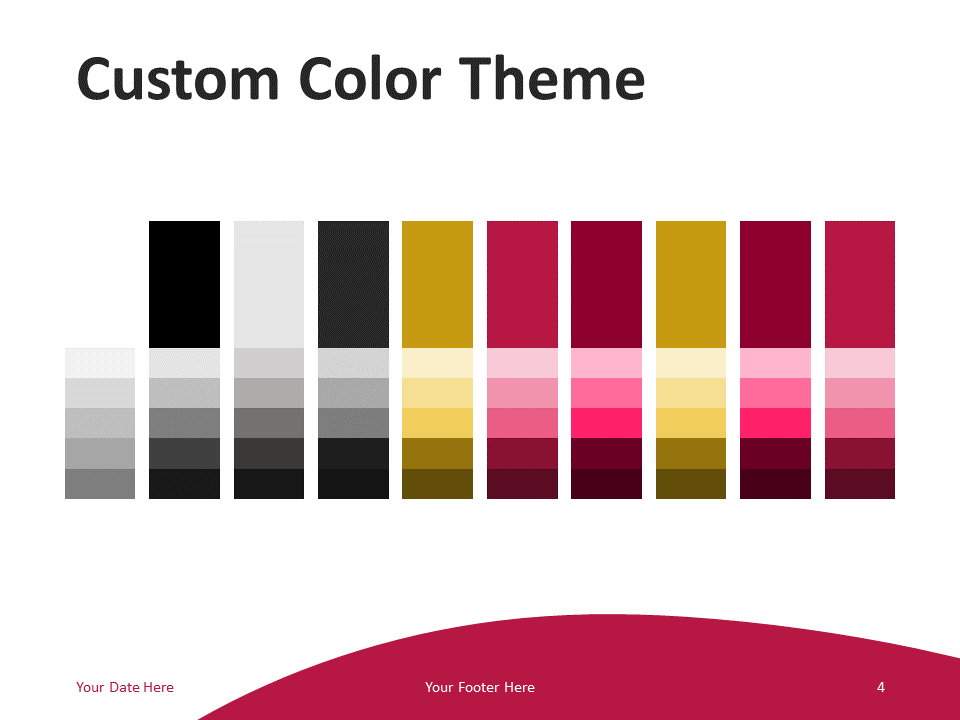 Free Business Template for PowerPoint - Colors