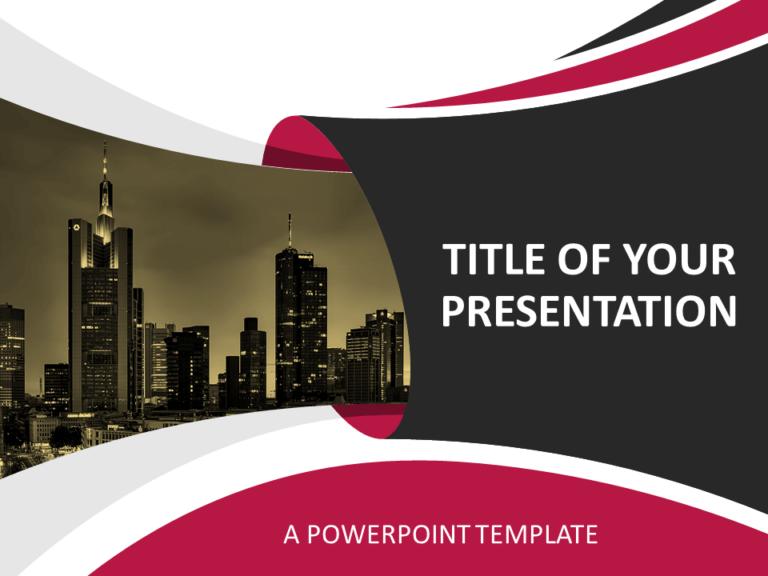Free Business Template for PowerPoint - Cover