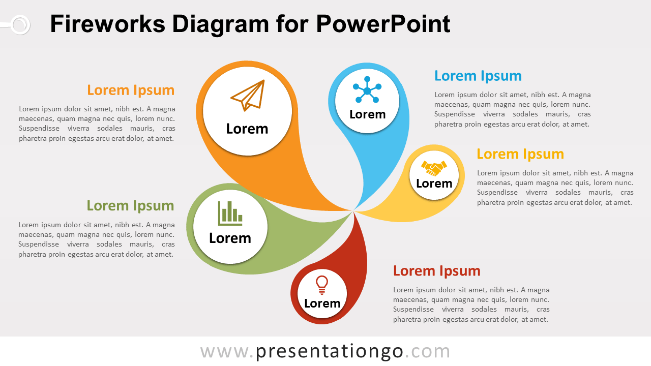 Free Fireworks PowerPoint Diagram