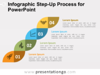 Free Infographic Step-Up Process for PowerPoint