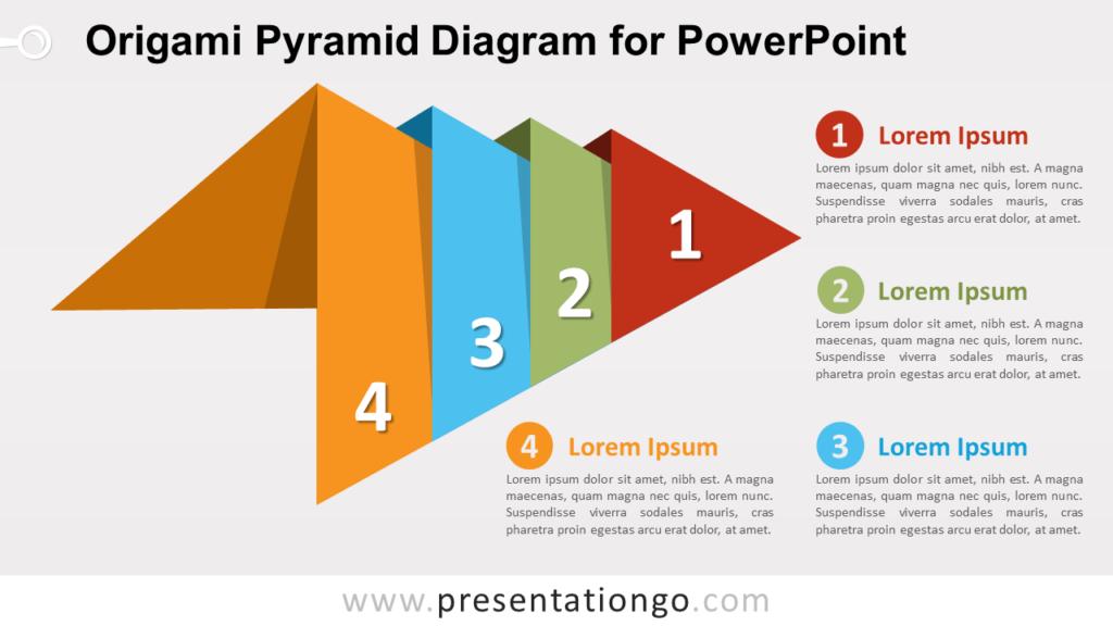 Free Origami Pyramid PowerPoint Diagram
