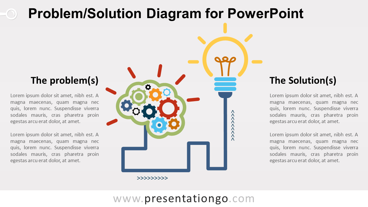 Free Problem and Solution PowerPoint Diagram