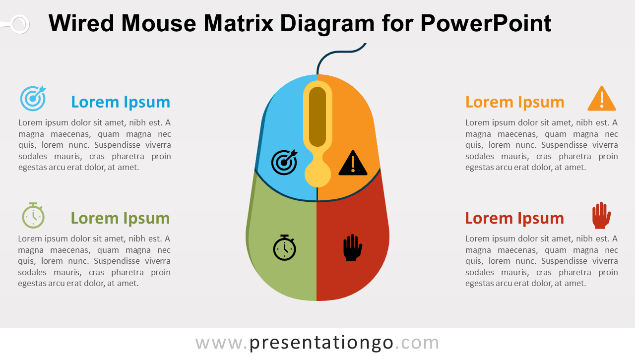 Free Wired Mouse Matrix PowerPoint Diagram